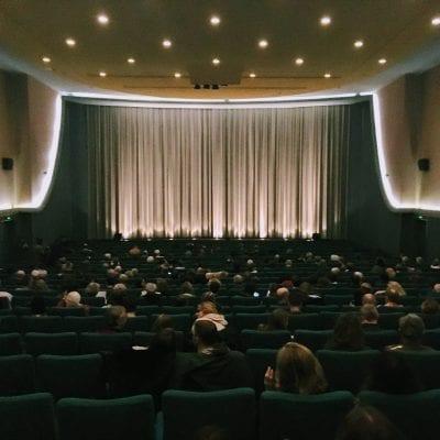 Inside of cinema screen