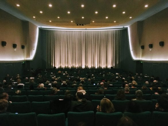 Inside of cinema screen