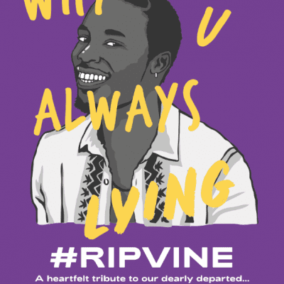 RIP VIne illustration poster