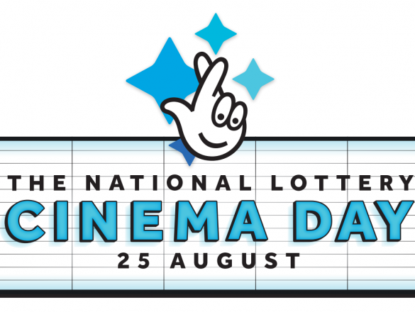 The national lottery cinema day logo.