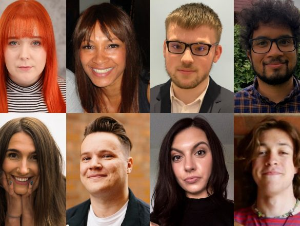The headshots of the eight producers selected to take part in the 2021 BFI NETWORK Creative Producer Lab